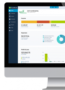 Bookkeeper computer dashboard