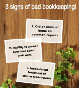 Bad Bookkeeping Signs