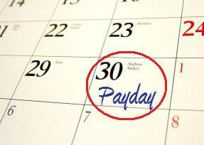 Payday wages payroll processing date